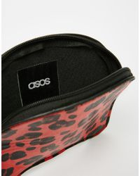 ASOS | Red Leopard Coin Purse | Lyst