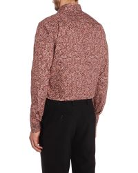 Paul Smith | Pink 'byard' Rose Print Cotton Poplin Shirt for Men | Lyst