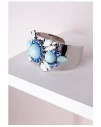 Missguided - Multicolor Statement Gem Detail Cuff Multi - Lyst