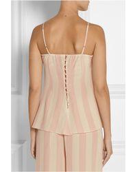 Rosamosario | Pink Amori Lineari Lace-Trimmed Silk Crepe De Chine Camisole | Lyst