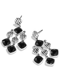 David Yurman - Sculpted Cable Chandelier Earrings With Black Onyx - Lyst