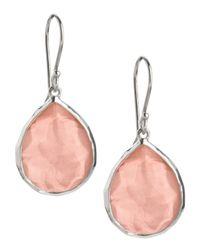 Ippolita | Pink Mini Teardrop Earrings | Lyst