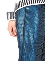 Liu Jo | Blue 'bourrache' Trousers | Lyst