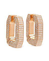 Wilfredo Rosado - Pink Double Link Diamond Earrings - Lyst