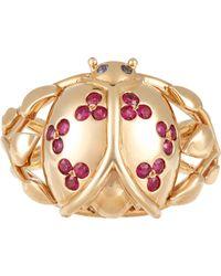 Aurelie Bidermann Metallic Ladybug Ring