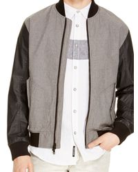 DKNY - Black Jeans Contrast Bomber Jacket for Men - Lyst