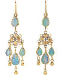 Judy Geib | Metallic Opal Chandelier Earrings | Lyst