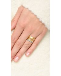 Madewell - Metallic Dot Stick Stacking Ring - Vintage Gold - Lyst