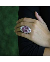 Wendy Yue Pink And White Sapphire Ring