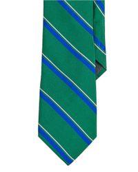 Lauren by Ralph Lauren - Green Regency Striped Silk Repp Tie for Men - Lyst