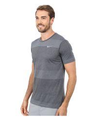 Nike   Gray Dri-fit Cool Tailwind Stripe Shirt for Men   Lyst