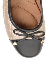 Söfft Natural Shonda Colorblocked Leather Ballet Flats