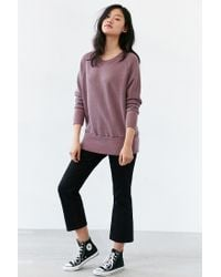Truly Madly Deeply - Purple Piper Button-back Pullover Sweatshirt - Lyst