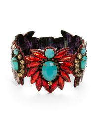 Deepa Gurnani | Purple Woven Statement Bracelet | Lyst