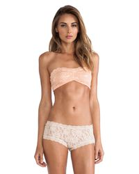 Free People Pink Essential Lace Bandeau