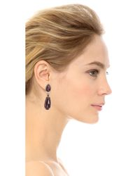 Alexis Bittar | Metallic Spur Trimmed Clip On Earrings - Ruthenium/Gold | Lyst