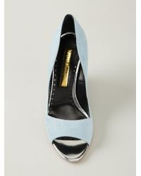 Rupert Sanderson - Blue 'Satire' Peep-Toe Pumps - Lyst