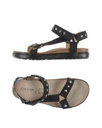 Geox | Black Sandals | Lyst