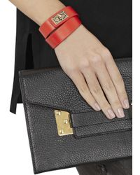 Givenchy | Red Leather Wrap Bracelet | Lyst