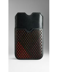 Burberry Black London Cityscape Leather and Suede Iphone 55s Case for men