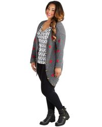 ModCloth - Gray Moseying Meetings Cardigan in Grey Plus Size - Lyst