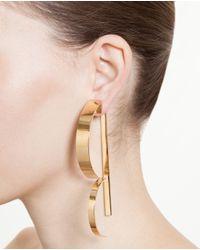 Loewe - Metallic Gold Plated Single Wave Earring - Lyst