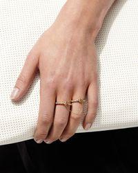 Borgioni | Metallic Handcuff Chain 18k Gold & Diamond Ring | Lyst