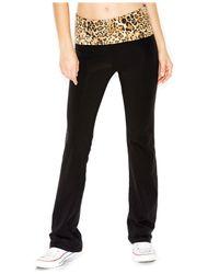 Guess Multicolor Leopard-Print Yoga Pants