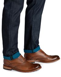 Ted Baker - Blue Stanwix Slim Printed Weft Printed Jeans for Men - Lyst