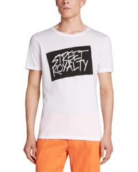 HUGO - White 'doyalty' | Cotton Graphic T-shirt for Men - Lyst
