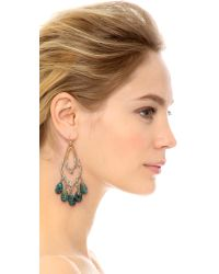 Alexis Bittar - Green Orbiting Tear Vine Earrings Chrysocollagold - Lyst