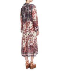 Étoile Isabel Marant - Pink Tilda Paisley-print Tunic Dress - Lyst