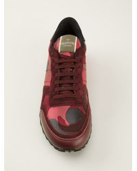 Valentino Garavani Red 'Rockrunner' Sneakers for men
