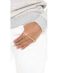 Fallon Metallic Pave Palm Cuff Bracelet