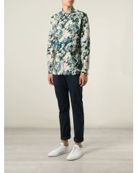 Paul Smith - Multicolor Floral Print Shirt for Men - Lyst