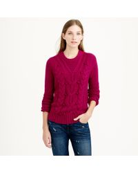 J.Crew Purple Collection Cashmere Cable Sweater