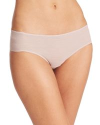 Hanro - Natural High-cut Tulle Brief - Lyst
