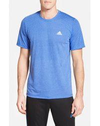 Adidas | Blue 'aeroknit' Short Sleeve T-shirt for Men | Lyst
