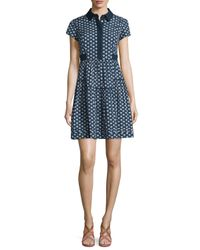 Diane von Furstenberg | Blue Skylar Peace Palm A-line Shirtdress | Lyst