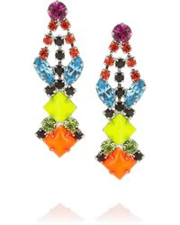 Tom Binns | Multicolor Pendant Crystal Earrings | Lyst