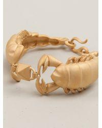 Valentino - Metallic Scorpio Bracelet - Lyst