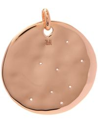 Monica Vinader - Pink Rose Gold-plated Siren Scatter Round Pendant - Lyst