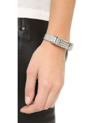 Tory Burch | Black For Fitbit Leather Bracelet - Tory Silver | Lyst