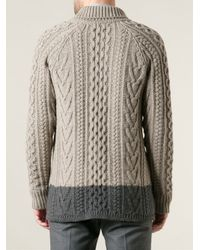 Marc Jacobs Gray Cable Knit Cardigan for men