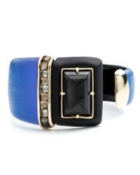 Alexis Bittar | Blue Color Block Cabochon Brake Hinge Bracelet | Lyst