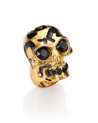 Alexander McQueen | Metallic Leopard Skull Ring | Lyst