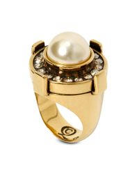 Alexander McQueen Yellow Military Ring