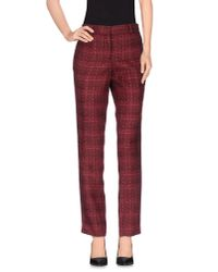 Tory Burch - Red Casual Trouser - Lyst