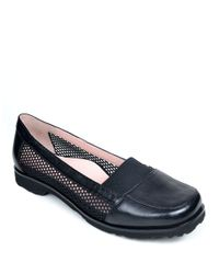 Taryn Rose | Black Jac Metallic Leather Loafers | Lyst