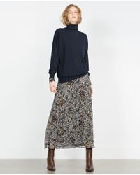 Zara | Blue Oversized Sweater | Lyst